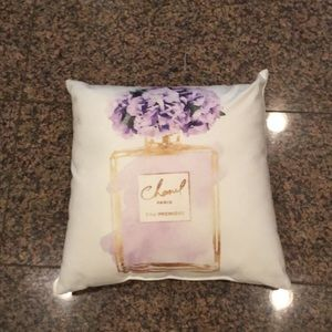 Other - 15 1/2 inches square pillow with purple flowers.